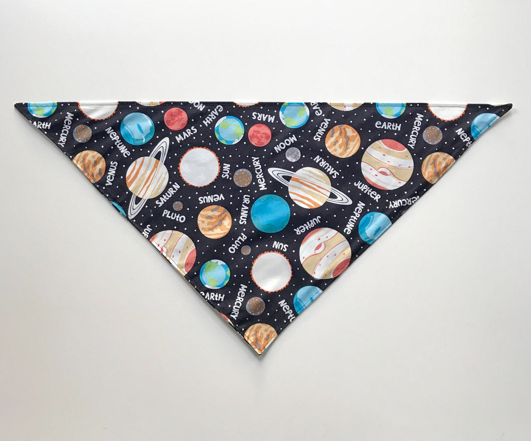 Space Glow in the Dark Dog Bandana