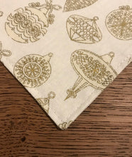 Load image into Gallery viewer, Gold Holiday Dog Bandana
