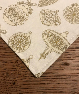 Gold Holiday Dog Bandana
