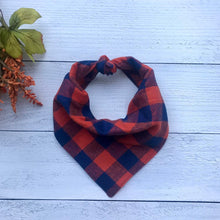 Load image into Gallery viewer, Dog Bandana Scrunchie Set- Pumpkin Spice