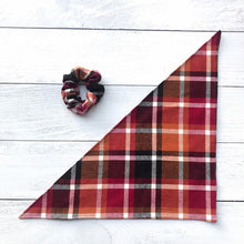 Load image into Gallery viewer, Dog Bandanna Scrunchie Set - Autumn Leaves