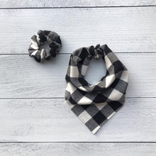 Load image into Gallery viewer, Dog Bandanna Scrunchie Set - Fireside