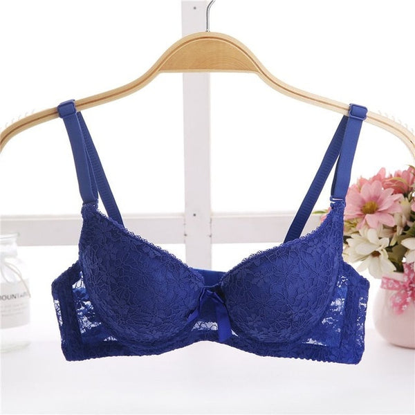 Women Padded Bras for Lady Lace Sexy Lingerie Brassiere Sexy Lace Floral Bra Bralette Underwear - JadoreBDSM.com