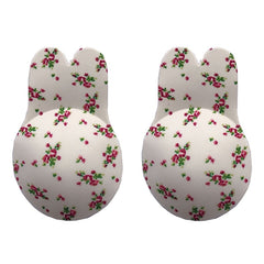 1 Pair Silicone Adhesive Women Invisible Push Up Bras Nipple Cover Breast Pasties Reusable Lift Up Tape Rabbit Bra Strapless Bra - JadoreBDSM.com