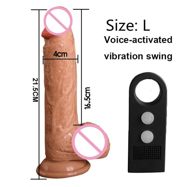 7/8 Inch Strapon Phallus Huge Large Realistic Dildos Thick Silicone Penis With Suction Cup for Women G Spot Stimulate Sex Toy - JadoreBDSM.com