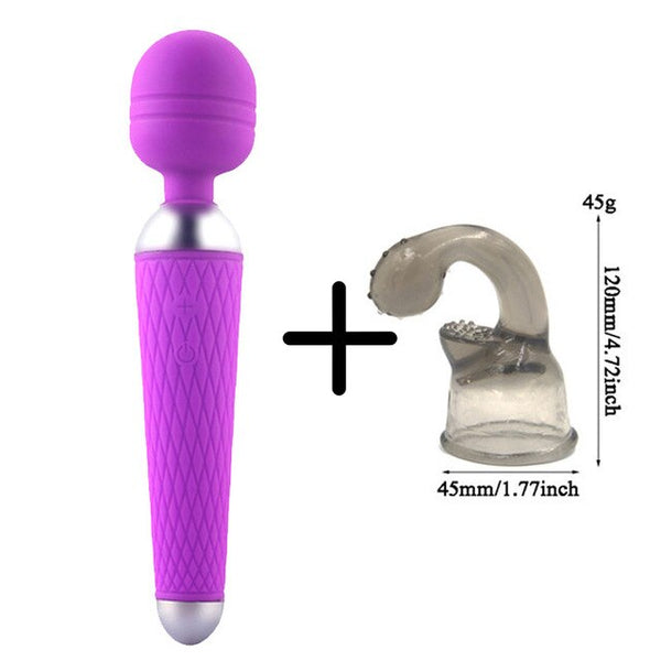 Magic Wand Vibrator for Woman Sex Products AV Vibrators USB Rechargeable Sex Toys for Woman Clitoral Vibrator Female Masturbator - JadoreBDSM.com