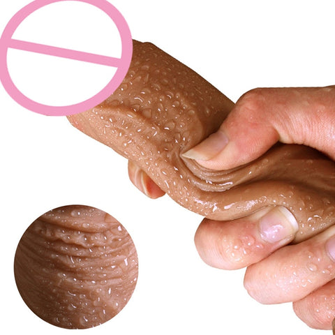 7/8 Inch Huge Realistic Dildo Silicone Penis Dong with Suction Cup for Women Masturbation Lesbain Sex Toy - JadoreBDSM.com