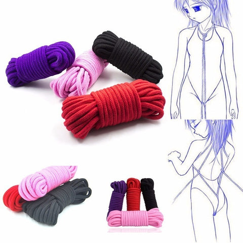 5M 10M SM Rope SM Bondage Rope bdsm sex product for adult femdom Bondage sex Cotton Rope for women couples's Game chastity belt -