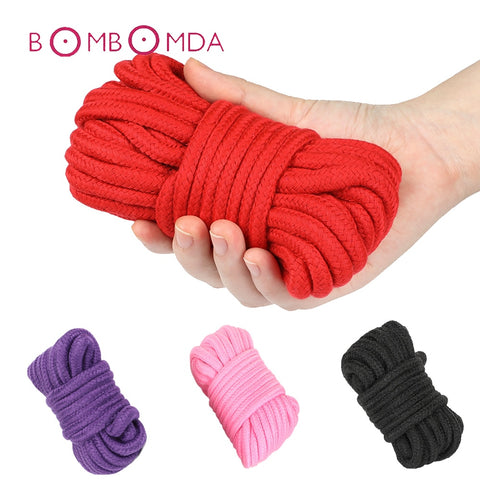 BDSM Bondage Soft Cotton Rope Flirting Sex Toys for Couples Roleplay Slave SM Bondage Rope Restraint Adult Game 5 10 Meters - JadoreBDSM.com