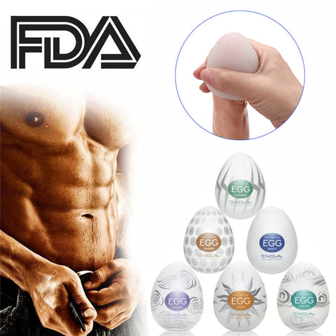 Masturbation Wavy Egg Cup Male Masturbator Mens Sex Toys for Men Penis Sex Pocket Pussy Realistic Vagina Silicone with Lubricant - JadoreBDSM.com