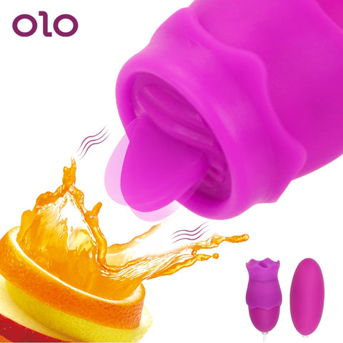 OLO Clitoris Stimulator Bullet Tongue Vibrator Vagina Ball Vibrating Egg G spot Oral Licking Nipple Sucker Sex Toys for Women - JadoreBDSM.com