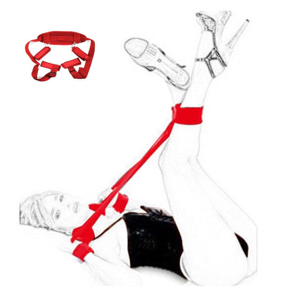 Bondage Gear Adult Sex Toys For Couples Games Handcuffs For Sex Ankle Cuffs BDSM Bondage Restraint Open Leg Fetish Sex Products - JadoreBDSM.com