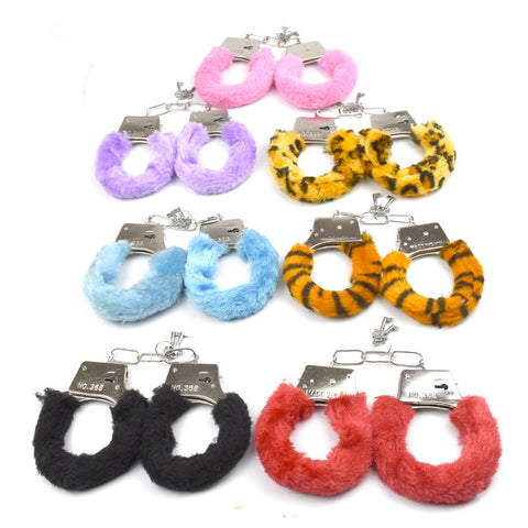 Exotic Bdsm Bondage Toys Sex Game PU Fur Handcuffs Ankle Cuffs Sexy Fun Butt Plug Sexo Anal Plug Lingeri Porn Sex Toys For Woman -