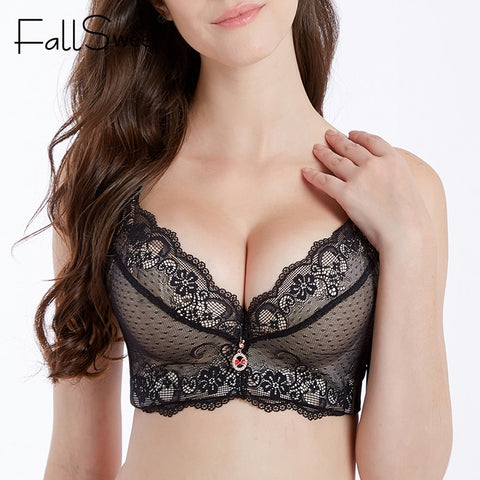 FallSweet Plus Size Women Bra Push Up Padded Bras for Women Sexy Thick Cup Brassiere Femme - JadoreBDSM.com