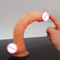 LUUK Long Dildo Realistic Blood Vessel Imitation Penis Imitator For Woman No Vibrator Masturbation Wear Adult Toys Rubber Dick - JadoreBDSM.com