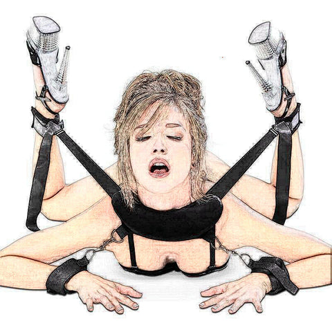 Mouth Gag Sex Toys For Women Couples Handscuff Neck Ankle Cuffs BDSM Bondage Restraints Slave Straps Adult Games Sex Products - JadoreBDSM.com
