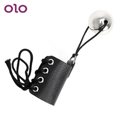 OLO  Exercise with Heavy Metal Ball Penis Enlarger Stretcher Penis Growth by Weight Extender Cock Ring Sex Toys for Men Male - JadoreBDSM.com