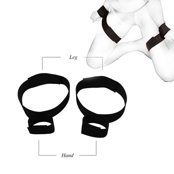 Adult Erotic Toy Handcuffs & Ankle Cuffs BDSM Bondage Under Bed Restraint Bondage Fetish Slave Sex ProductsSex Toys For Couples - JadoreBDSM.com