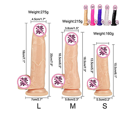 Soft Jelly Dildo Realistic Anal Dildo Penis Suction Cup Male Dick Female Masturbation Erotic Toys for Adult Sex Toys for Woman - JadoreBDSM.com