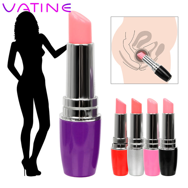 VATINE Mini Lipstick Vibrator Machine products Waterproof Jump Egg Bullet Clitoral Stimulation Sex Toy for Woman Discreet Quiet -