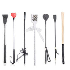 BDSM Bondage Ratton Whip ,Straight Leather Prop Flogger Whip ,Spanking Cane Riding Crop Stick, Exotic Costumes SM Play Sex Toys - JadoreBDSM.com