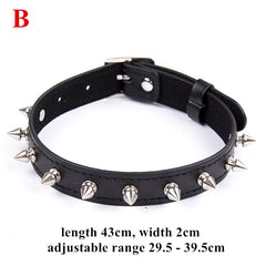 Fetish Dog Slave Bondage Neck Collar PU Leather Punk Rivets Necklace BDSM Bondage Restraints Sex Collar Erotic Accessories - JadoreBDSM.com