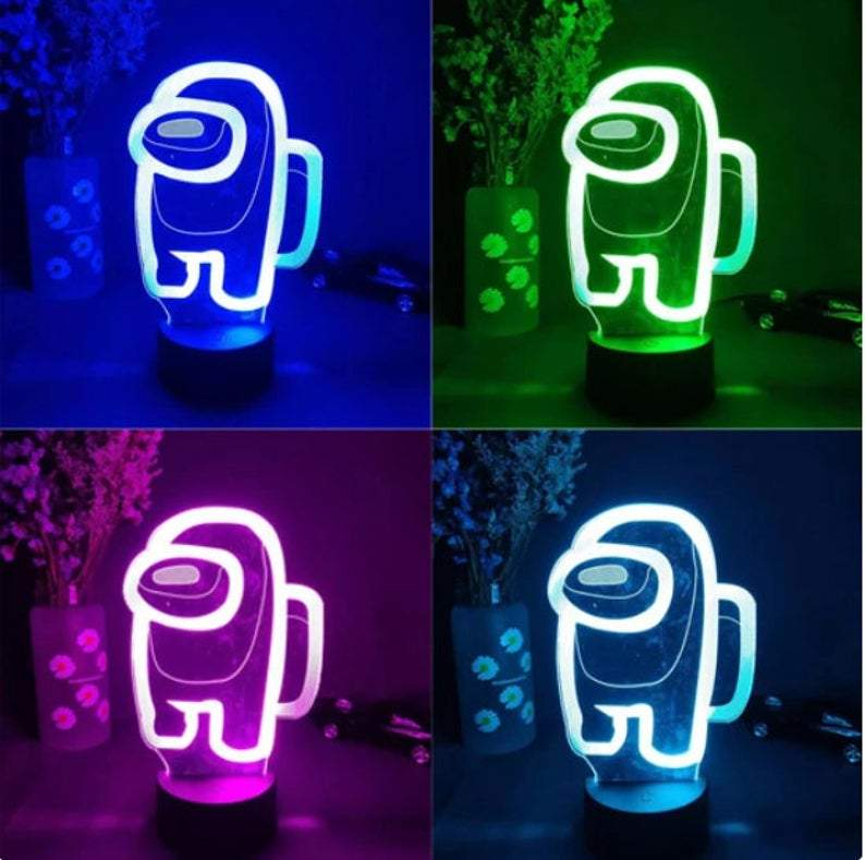Among Us Merch Neon Sign LED Light Up Lamp