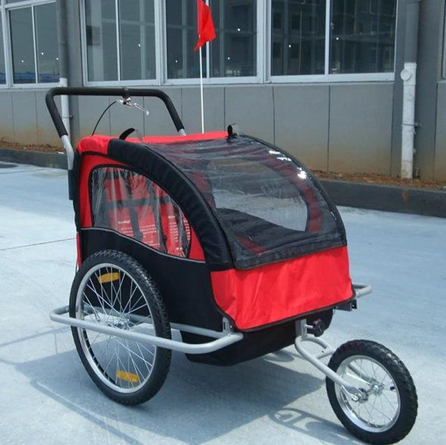 Aluminum Kids Bike Bicycle Trailer