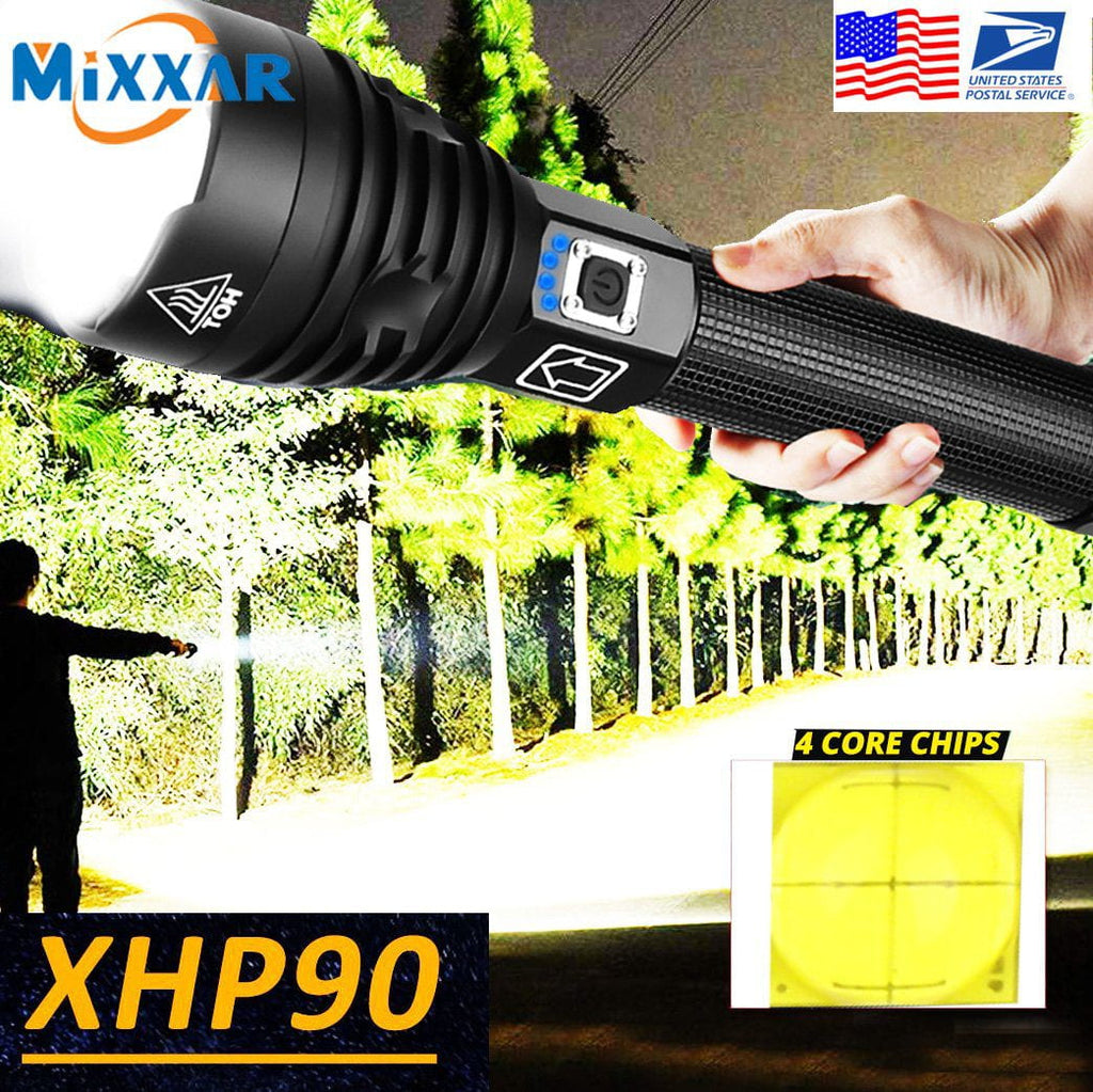 Camping Rechargable Waterproof LED Torch Flashlight