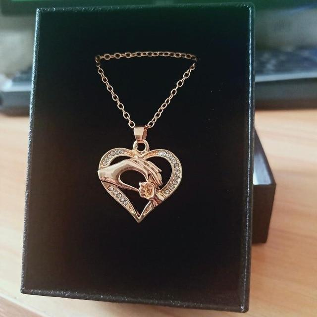 Mom Necklace Heart Pendant Daughter Son