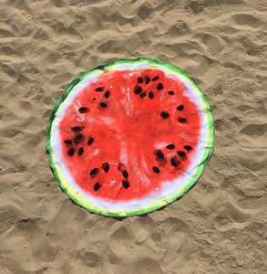 Donut Watermelon Summer Beach  Sarong Pareo Mat