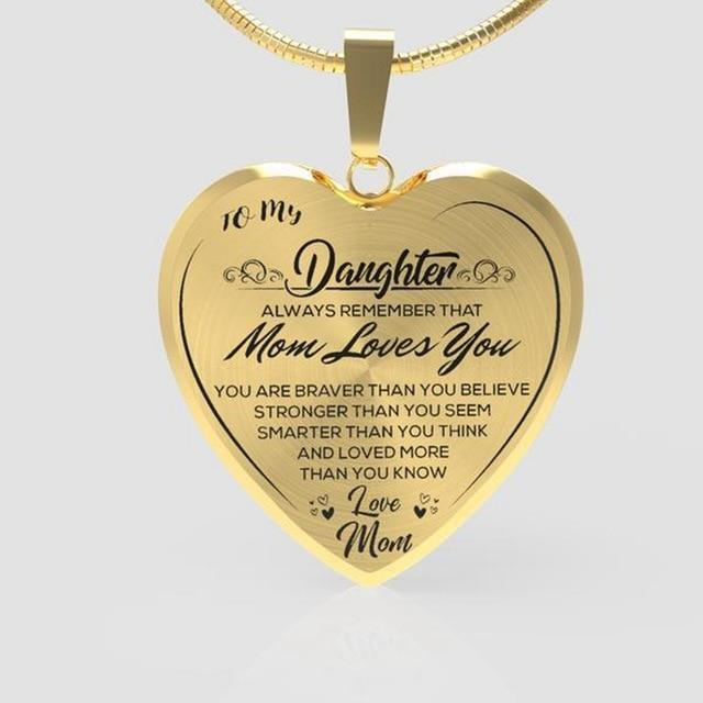 Mom to Daughter Necklace Christmas Gift