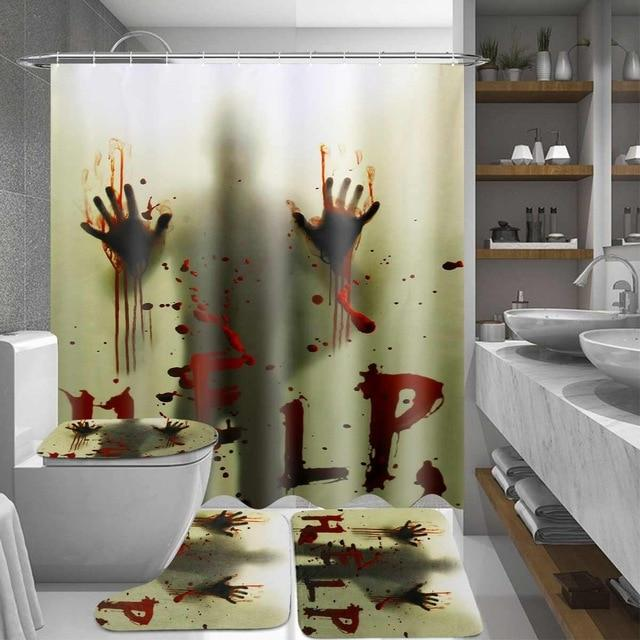 Halloween Shower Bath Curtain Mat