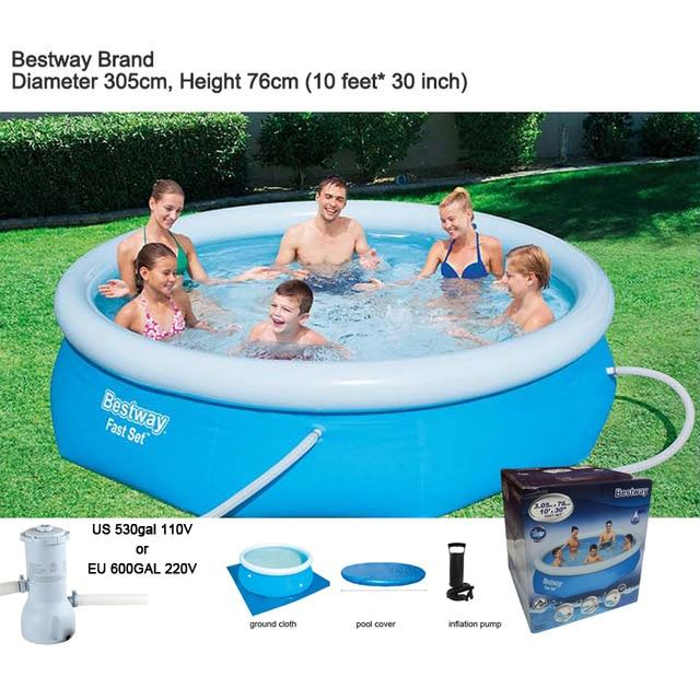 Intex Bestway 305cm 10ft Inflatable  Above Ground Swimming Pool