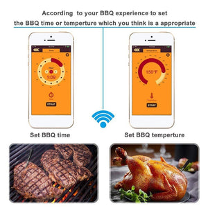 Wireless Kitchen Meat BBQ Thermometer