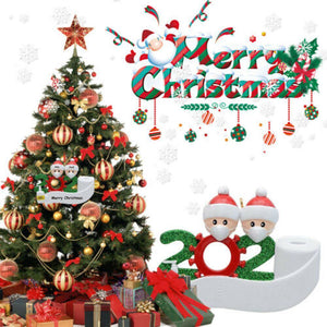 2020 Quarantine Christmas Decoration Santa Claus With Mask Xmas Tree Ornament