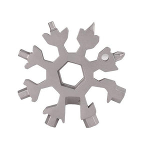 18 In 1 Multi-Tool Stainless Steel Snowflake