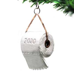 Christmas Ornaments Mini Toilet Paper Roll Pendant