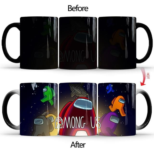 Among Us Ceramic Thermochromic Coffee Changing Mug