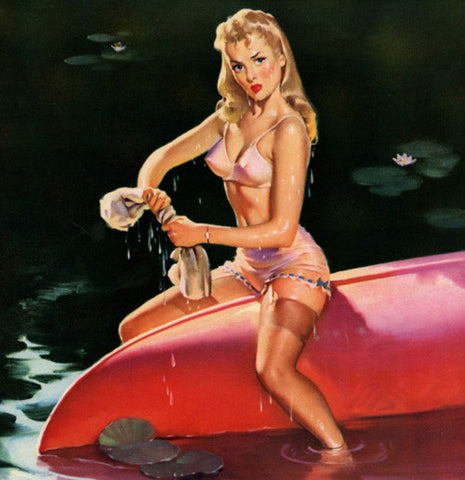 Canoe girly pinup
