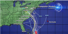 Hurricane projected trajectories