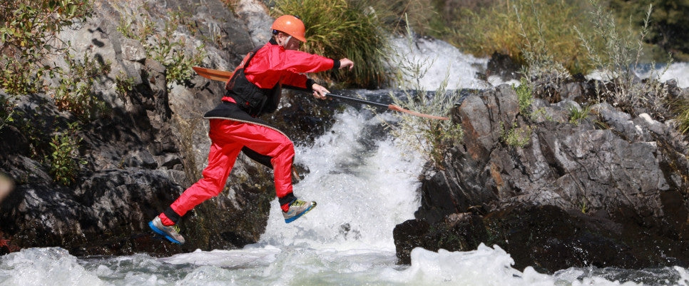 Mythic Gear drysuits for whitewater kayakers