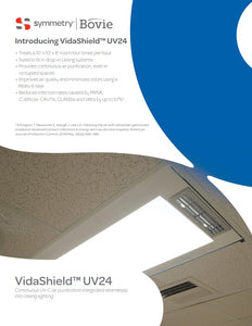 VidaShield by Bovie 2x4 Troffer, UV Overhead Air Purification LED Light, UV24LED