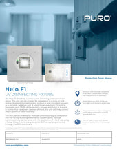 "Load image into Gallery viewer, Puro Helo F1 - UV Disinfecting Fixture, H-F1-12-6-P-COM-110 (with 12""x12"" flange)"