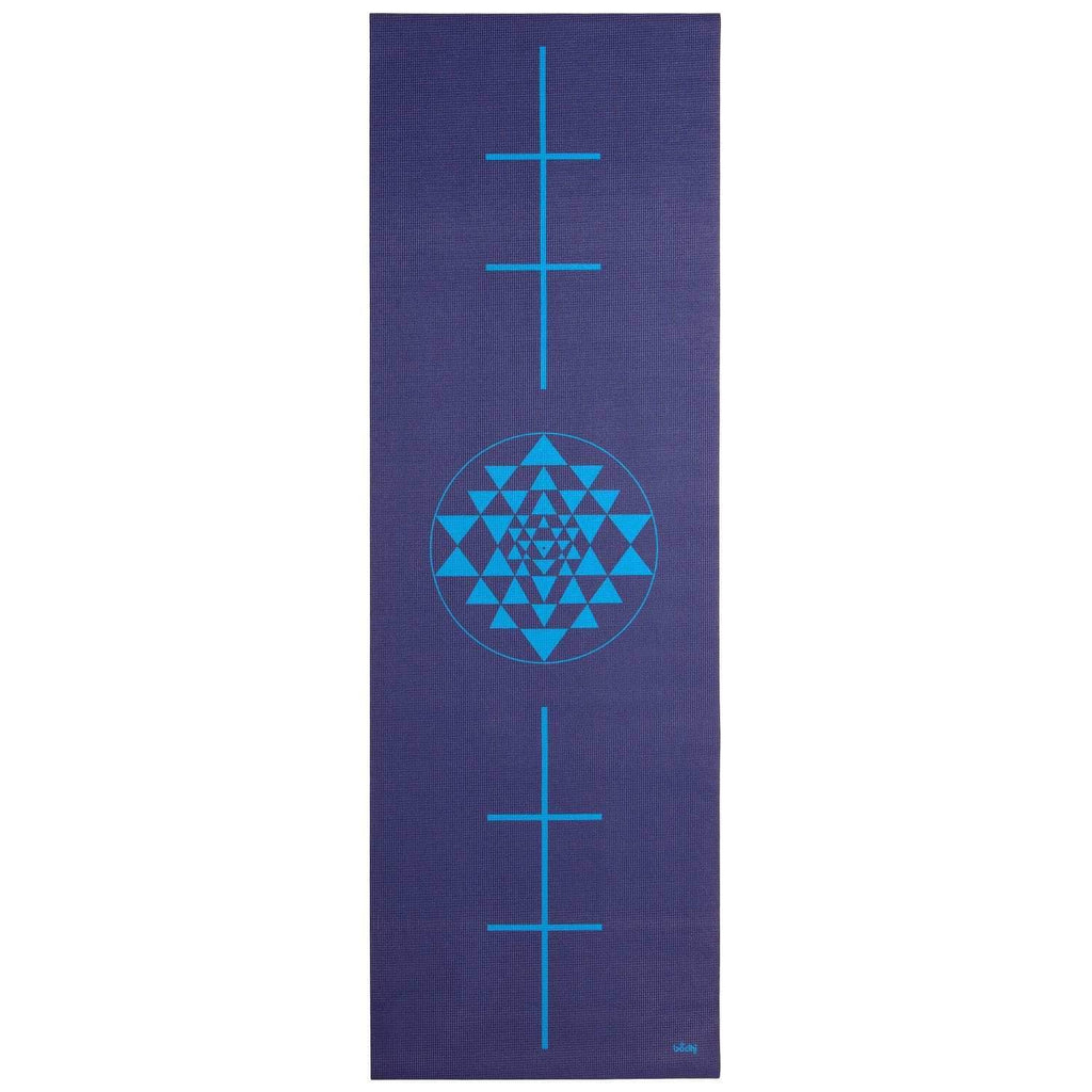 Alignment Mat in Dark Blue Yantra - The Leela Collection - Bodynova Shop