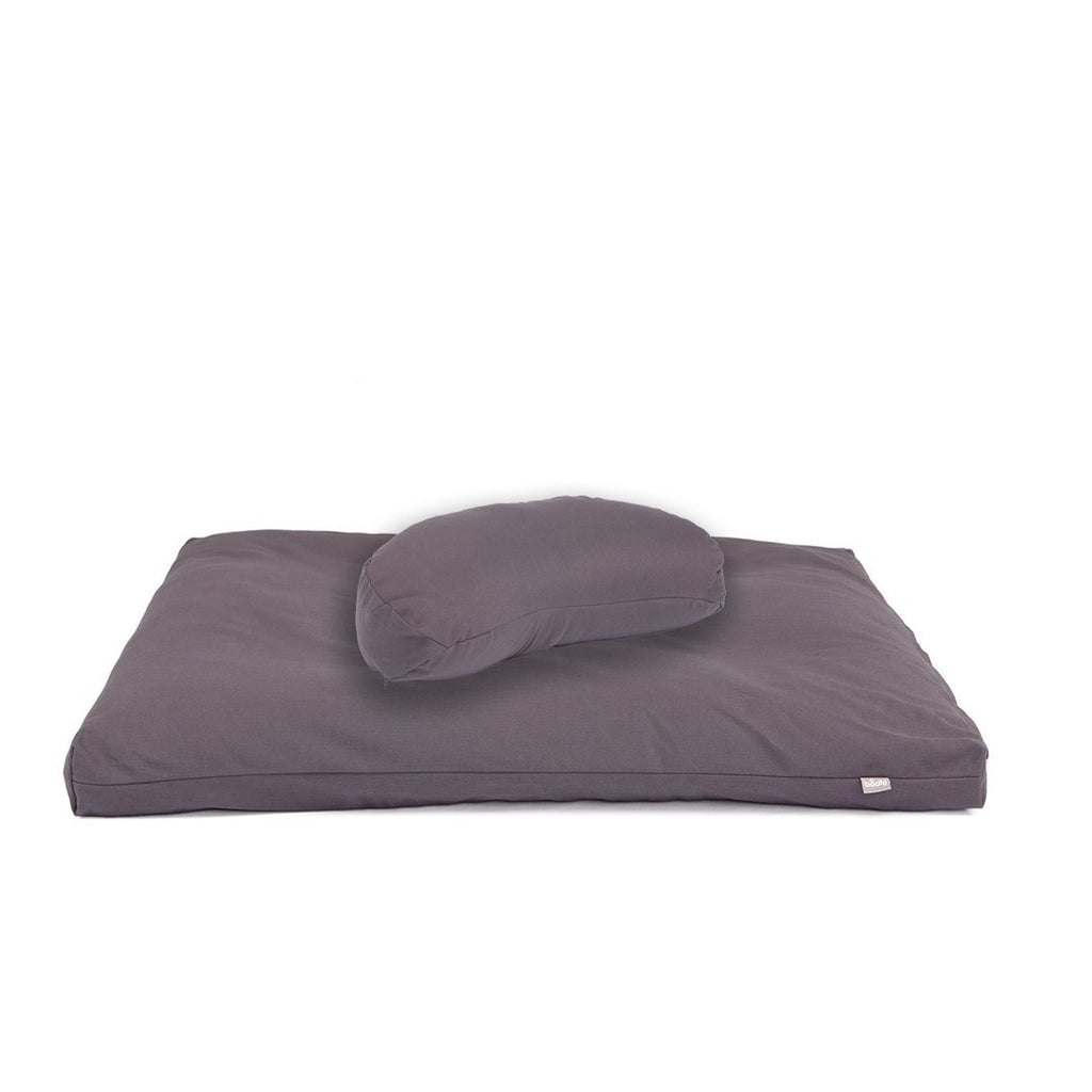 ECO Deluxe Meditation SET - HALF MOON in Anthracite - Bodynova Shop