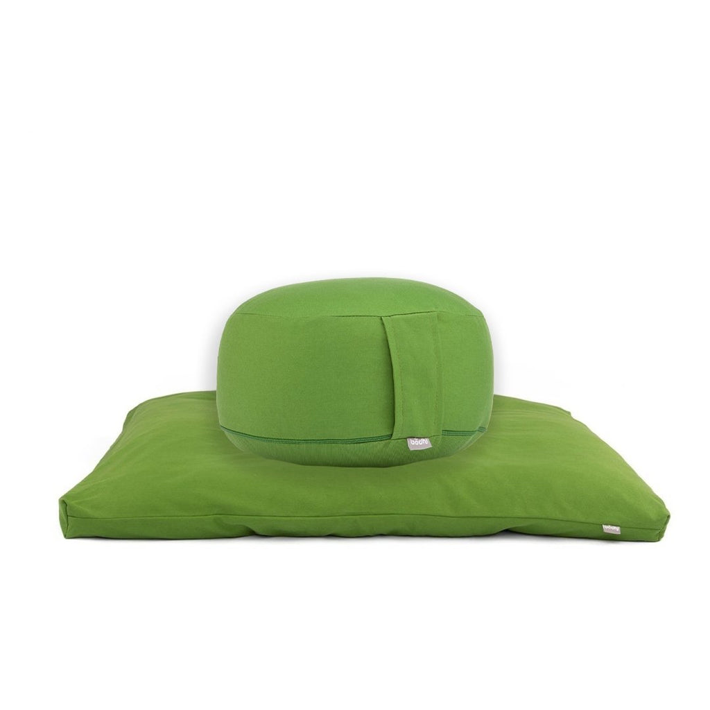 ECO Deluxe Meditation SET - ROUND in Olive Green - Bodynova Shop