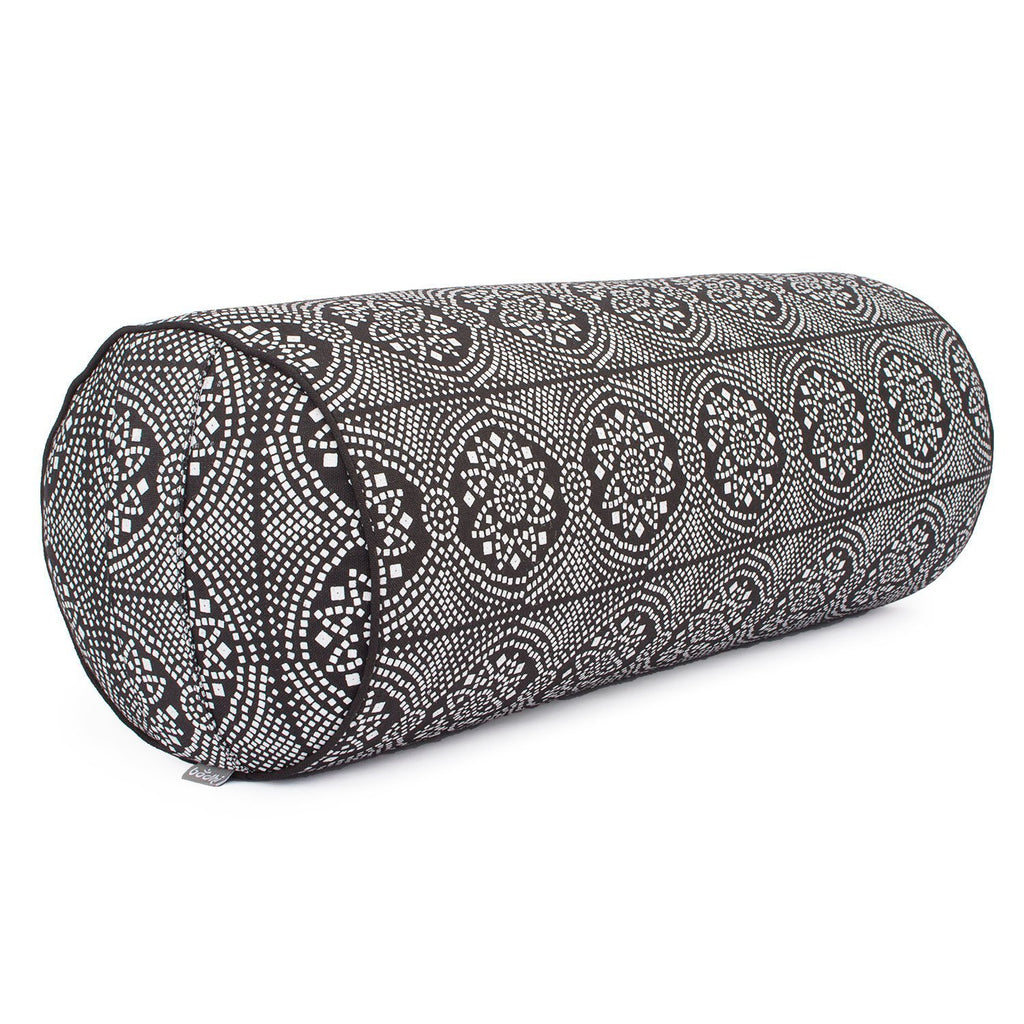 Maharaja Collection: Round Bolster - Black & White Bandhani - Bodynova Shop