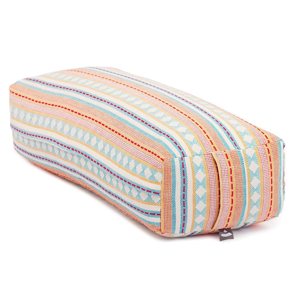 Salamba ECO Rectangular Yoga Cushion - Printed Apricot - Bodynova Shop