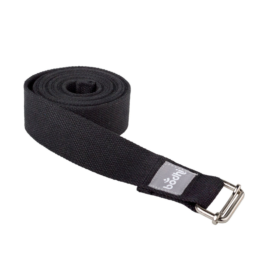 The ASANA BELT Yoga Strap with metal sliding buckle - Black - Bodynova Shop
